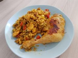 Cuisiner une Paëlla : cuisson terminé, prêt à être dégusté !